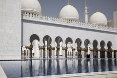 Abu Dhabi, Mosque Stock Photo