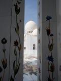 Abu Dhabi Mosque-Säulen Stockfotos