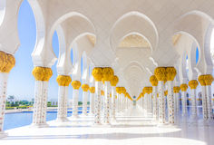 Abu Dhabi Mosque. Sheikh Zayed Mosque in Middle East United Arab Emirates stock image