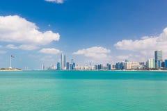 Abu Dhabi nabrzeże, Zjednoczone Emiraty Arabskie Obrazy Royalty Free