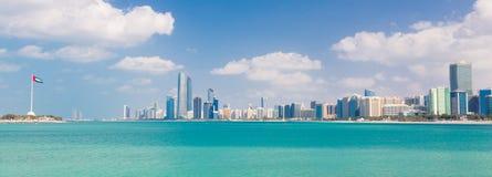 Abu Dhabi nabrzeże, Zjednoczone Emiraty Arabskie Fotografia Stock