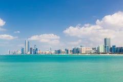 Abu Dhabi nabrzeże, Zjednoczone Emiraty Arabskie Obraz Royalty Free