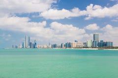 Abu Dhabi nabrzeże, Zjednoczone Emiraty Arabskie Zdjęcia Royalty Free