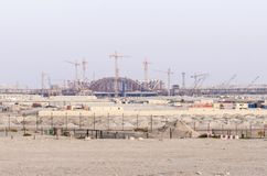 Abu Dhabi new airport terminal. Construction of new airport terminal in abu dhabi Royalty Free Stock Images