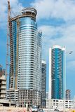 Abu Dhabi new district with skyscrapers construction. United Arab Emirates Stock Images