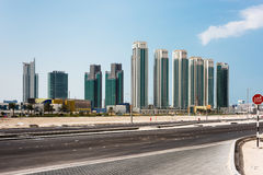 Abu Dhabi new district with skyscrapers. United Arab Emirates Royalty Free Stock Photos