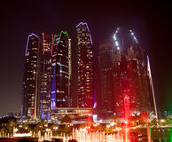 Abu Dhabi Night Lizenzfreies Stockbild