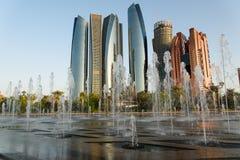 Abu Dhabi. Panorama and fountain Stock Image