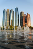 Abu Dhabi. Panorama and fountain Stock Images
