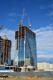 ABU DHABI PIAZZA unter contruction in Astana Lizenzfreies Stockfoto