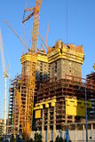Abu Dhabi Plaza towers in Astana under construction in Summer 2016 Royalty Free Stock Photography