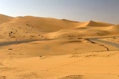 Abu Dhabi pustynia Zdjęcie Stock