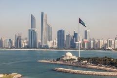 Abu Dhabi śródmieścia linia horyzontu Zdjęcie Royalty Free