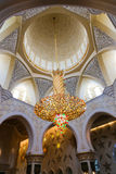 Abu Dhabi Sheikh Zayed Grand-Moskee Stock Afbeelding