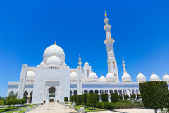 Abu Dhabi, Sheikh Zayed Grand Mosque in Abu Dhabi Lizenzfreies Stockfoto