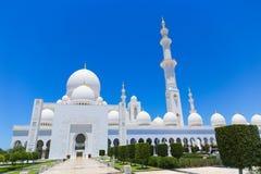 Abu Dhabi, Sheikh Zayed Grand Mosque en Abu Dhabi Foto de archivo libre de regalías