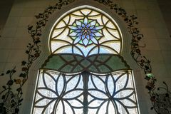 Abu Dhabi Sheikh Zayed Grand Mosque Prayers Hall Window royalty free stock image