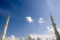 Abu Dhabi - Sheikh Zayed Mesquita Fotos de Stock Royalty Free