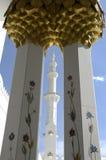 Abu Dhabi - Sheikh Zayed Mesquita Foto de Stock