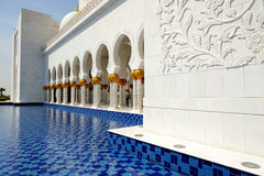 Abu Dhabi. Sheikh Zayed-Moschee Stockfoto