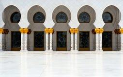 Abu Dhabi. Sheikh Zayed-Moschee Stockbild