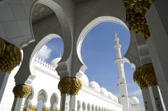 Abu Dhabi Sheikh Zayed Mosque Royalty Free Stock Photography