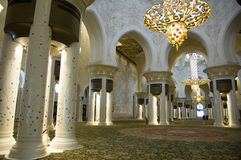 Abu Dhabi - Sheikh Zayed Mosque Stock Photo