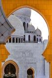 Abu Dhabi Sheikh Zayed Mosque nachts Stockbilder