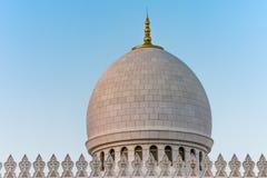 Abu Dhabi Sheikh Zayed Mosque nachts Lizenzfreie Stockbilder