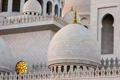Abu Dhabi Sheikh Zayed Mosque nachts Lizenzfreie Stockfotos