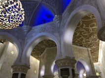 Abu Dhabi Sheikh Zayed Mosque, United Arab Emirates Stock Photo