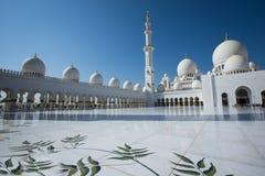 Abu dhabi sheikh Zayed mosque Royalty Free Stock Photo