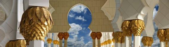 Abu Dhabi Sheikh Zayed White-Moschee Lizenzfreie Stockfotos