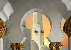 Abu Dhabi Sheikh Zayed White-Moschee in UAE Stockbild