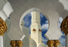 Abu Dhabi Sheikh Zayed White-Moschee in UAE Stockfotografie