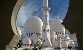 Abu Dhabi Sheikh Zayed White-Moschee in UAE Lizenzfreies Stockfoto