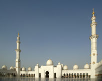 Abu Dhabi Sheikh Zayed White-Moschee in UAE Stockfoto