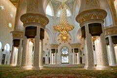 Abu Dhabi Sheikh Zayed White-Moschee in UAE Stockfotos
