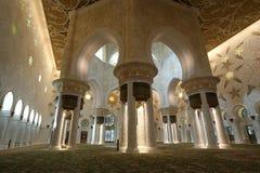 Abu Dhabi Sheikh Zayed White-Moschee in UAE Stockbild