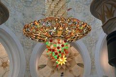 Abu Dhabi Sheikh Zayed White-Moschee in UAE Stockbilder