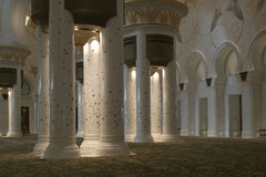 Abu Dhabi Sheikh Zayed White-Moschee in UAE Lizenzfreie Stockfotos