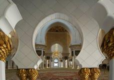 Abu Dhabi Sheikh Zayed White-Moschee in UAE Stockfotografie