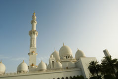 Abu Dhabi Sheikh Zayed White-Moschee in UAE Stockfoto