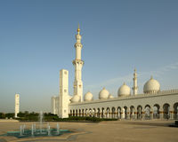 Abu Dhabi Sheikh Zayed White-Moschee in UAE Stockbilder