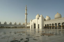 Abu Dhabi Sheikh Zayed White-Moschee in UAE Stockfotos