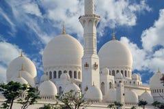 Abu Dhabi Sheikh Zayed White-Moschee in UAE Lizenzfreies Stockbild
