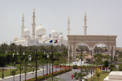 Abu Dhabi Sheikh Zayed White Mosque Royalty Free Stock Image