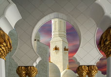 Abu Dhabi Sheikh Zayed White Mosque in UAE Stock Images