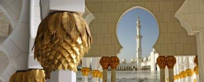 Abu Dhabi Sheikh Zayed White Mosque in UAE Stock Image