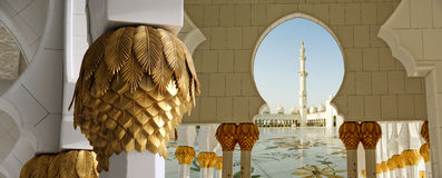 Abu Dhabi Sheikh Zayed White Mosque in UAE Stock Photo